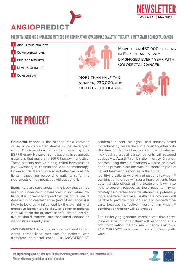 Project Newsletter Vol. I